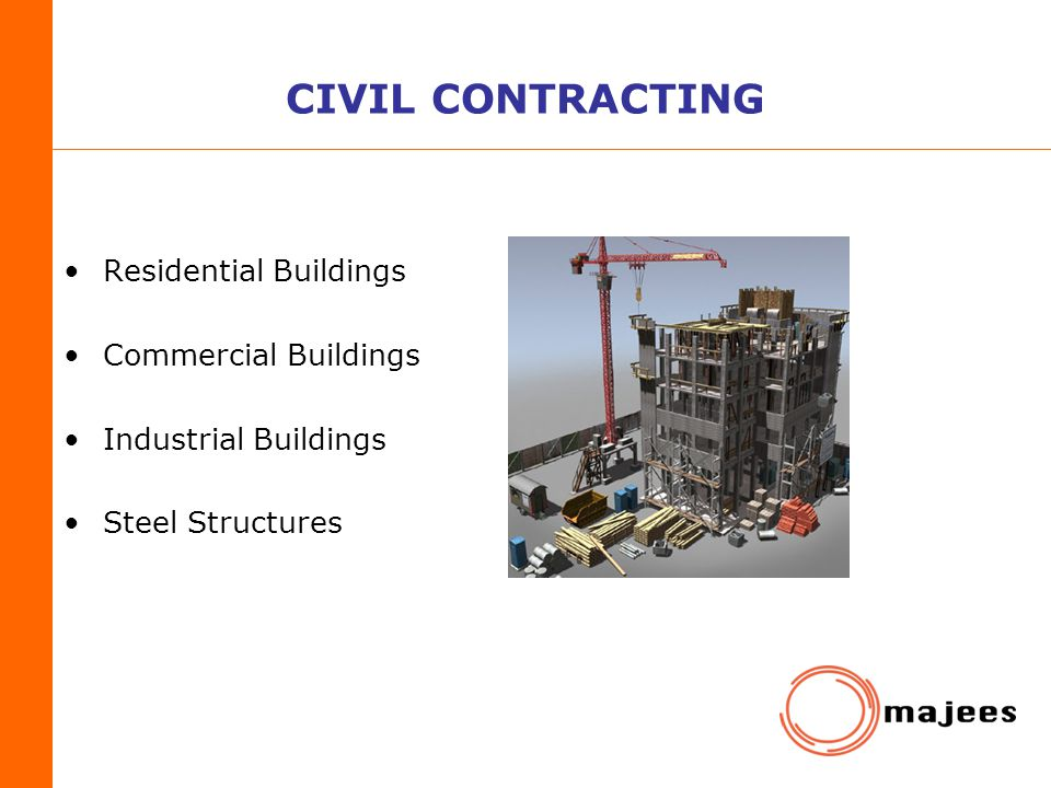 CIVIL CONTRACTING Residential Buildings Commercial Buildings
