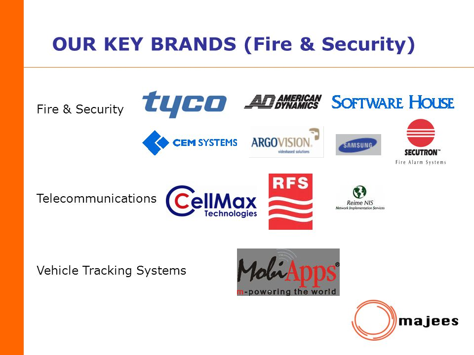 OUR KEY BRANDS (Fire & Security)