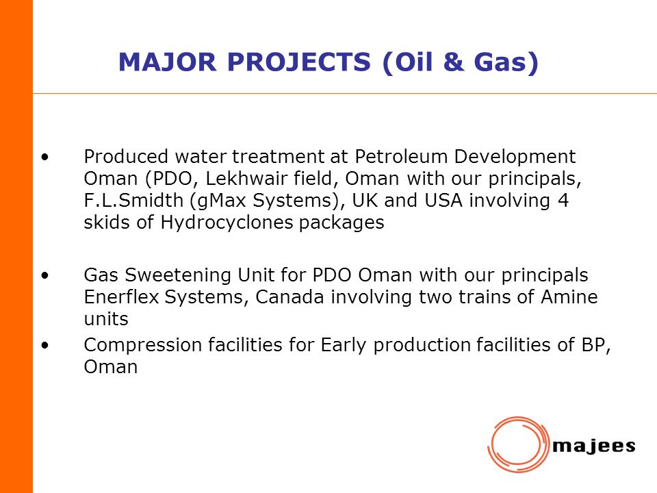 MAJOR PROJECTS (Oil & Gas)