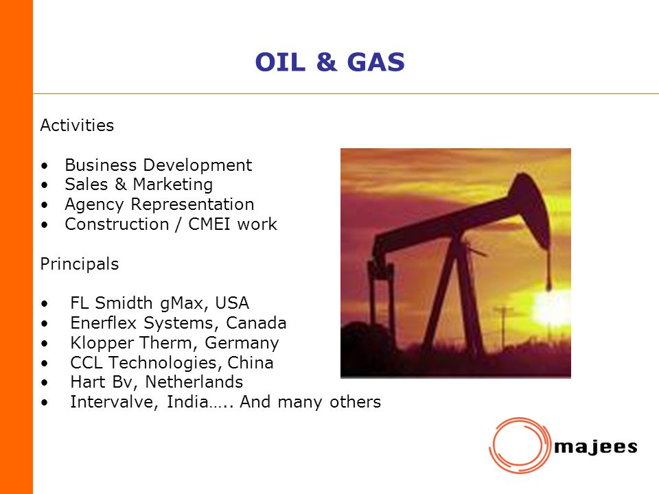 OIL & GAS Activities Business Development Sales & Marketing