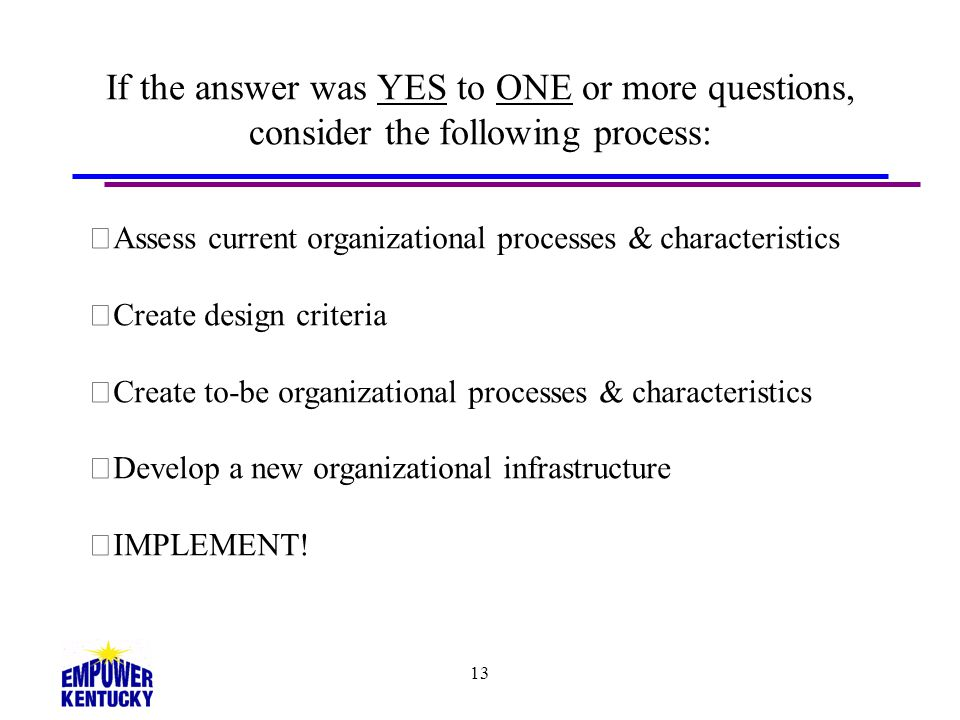 If the answer was YES to ONE or more questions, consider the following process: