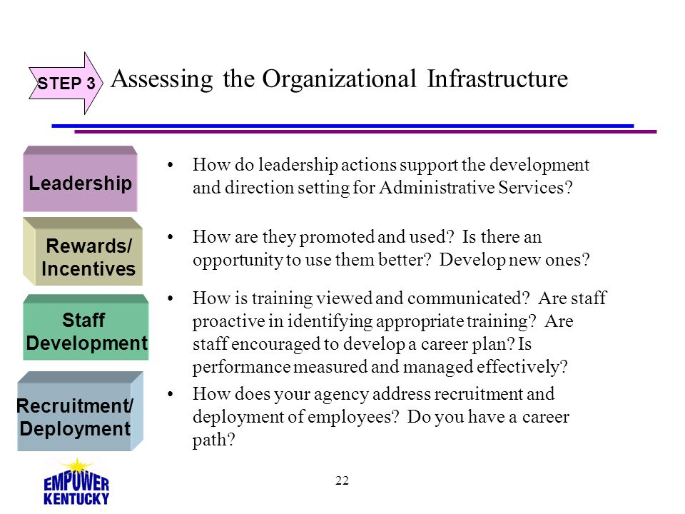 Assessing the Organizational Infrastructure