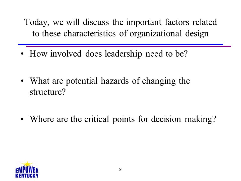 How involved does leadership need to be