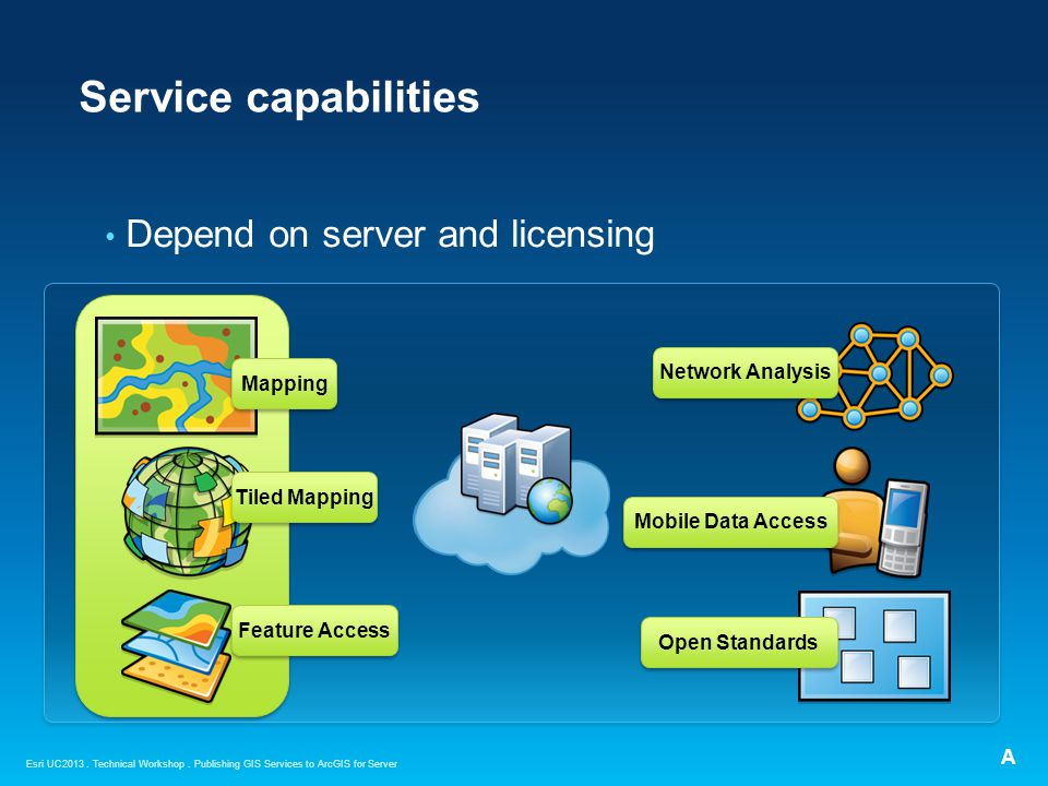 Service capabilities Depend on server and licensing Network Analysis