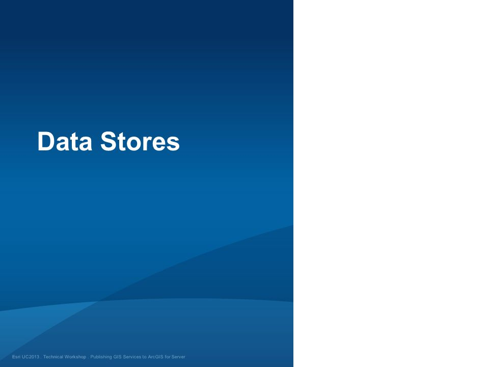 Data Stores Publishing GIS Services to ArcGIS for Server