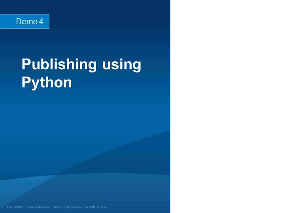 Publishing using Python
