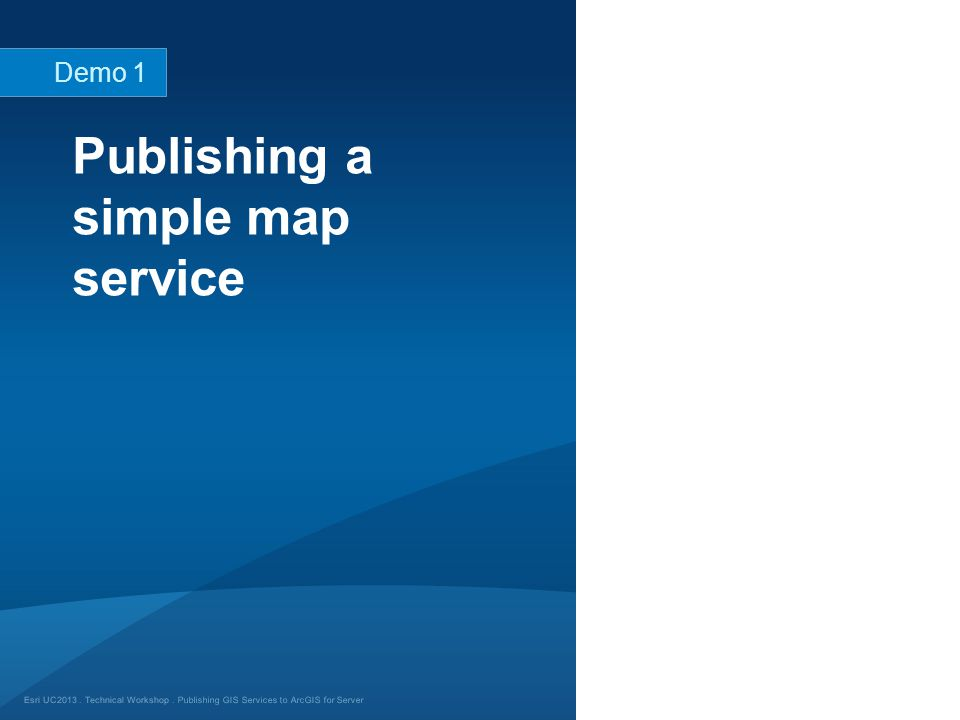 Publishing a simple map service
