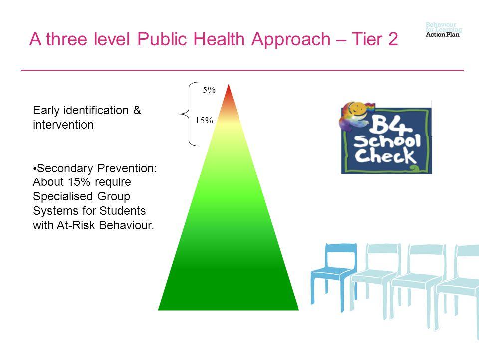 A three level Public Health Approach – Tier 2