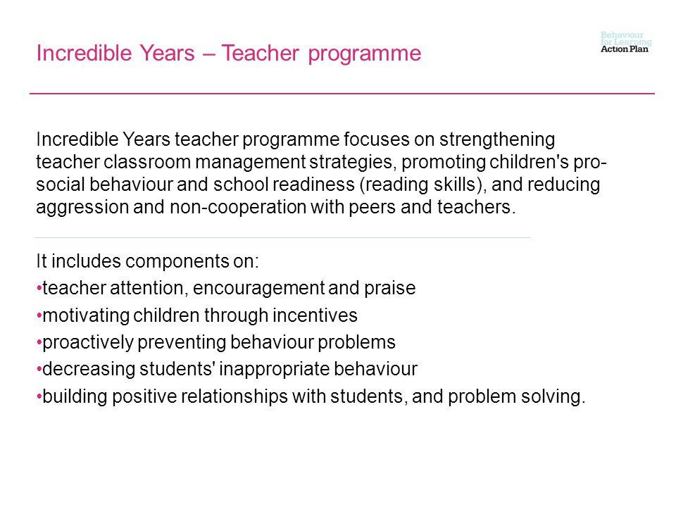 Incredible Years – Teacher programme