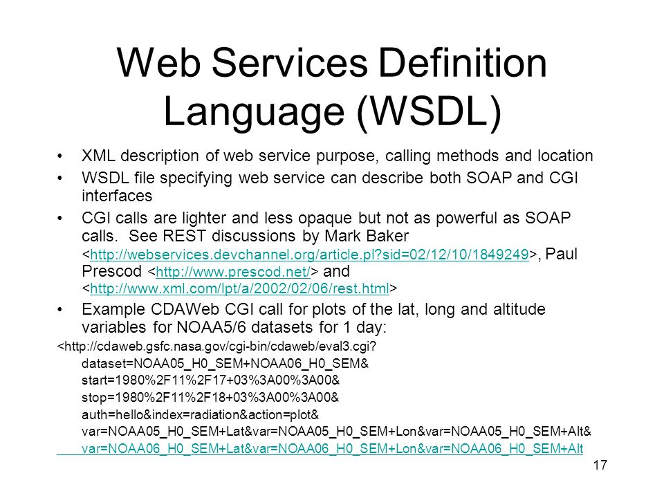 Web Services Definition Language (WSDL)