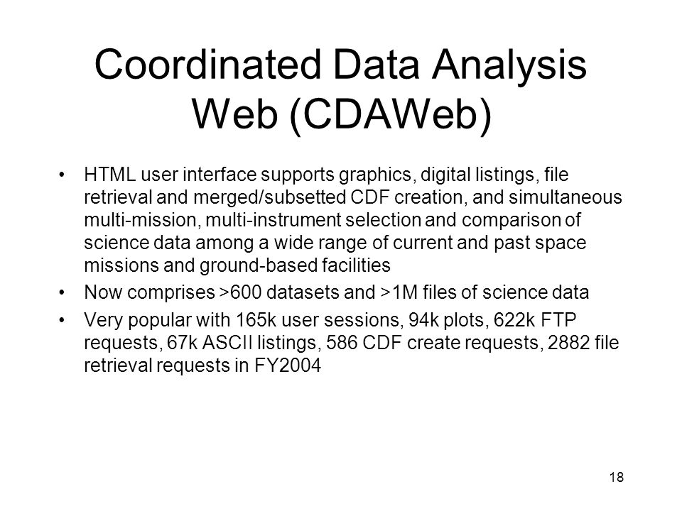 Coordinated Data Analysis Web (CDAWeb)