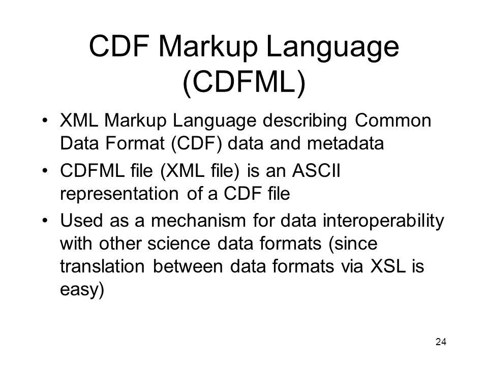 CDF Markup Language (CDFML)