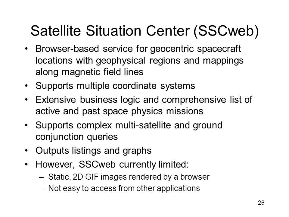 Satellite Situation Center (SSCweb)