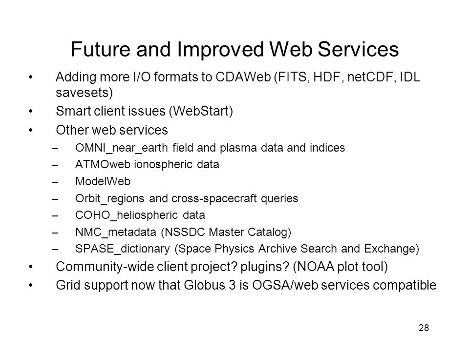 Future and Improved Web Services