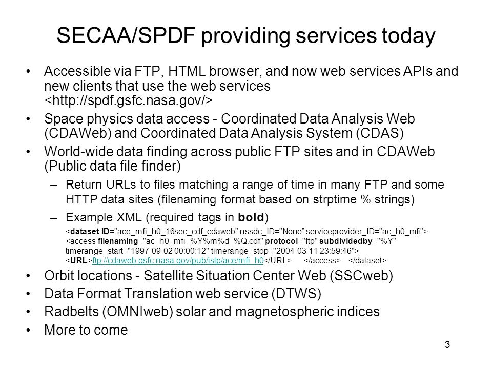 SECAA/SPDF providing services today