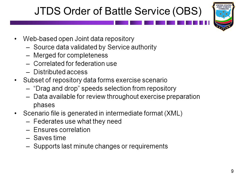 JTDS Order of Battle Service (OBS)