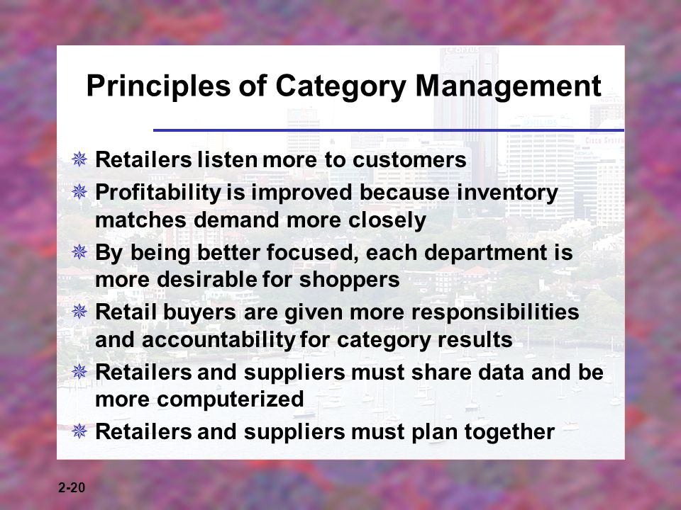 Principles of Category Management