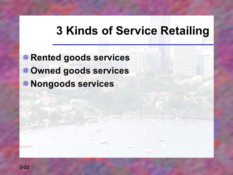 3 Kinds of Service Retailing