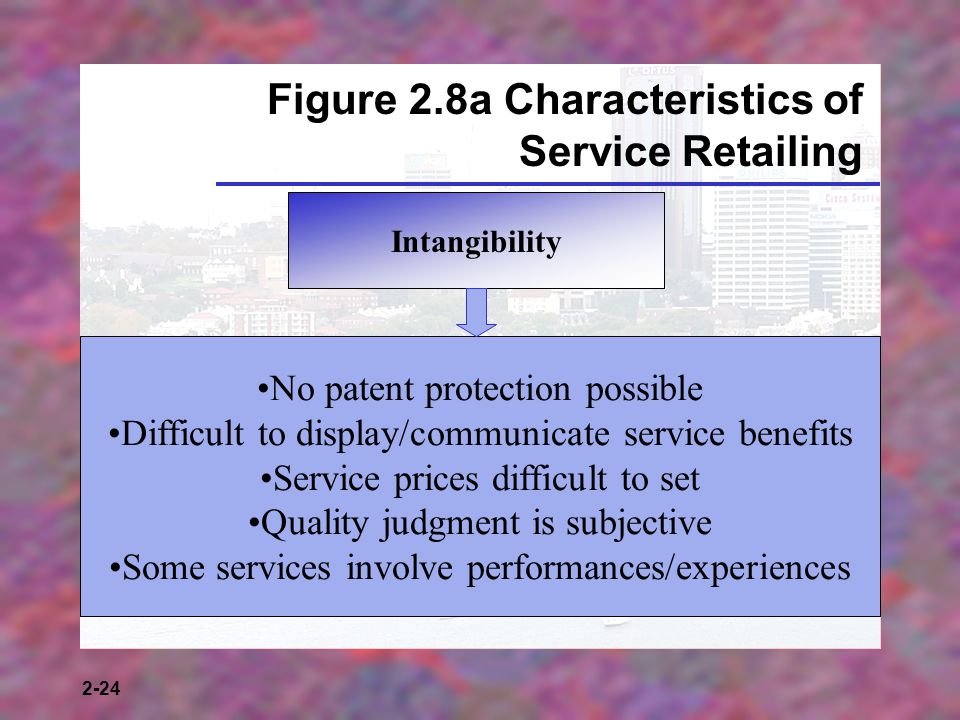 Figure 2.8a Characteristics of Service Retailing