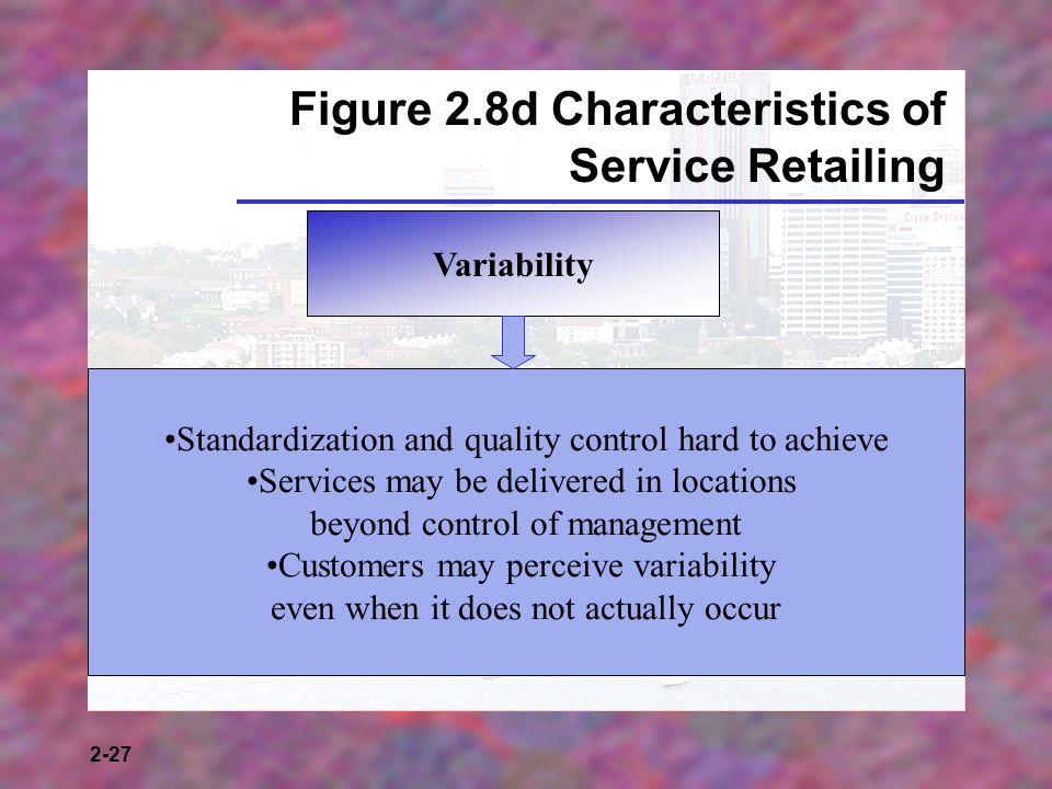 Figure 2.8d Characteristics of Service Retailing