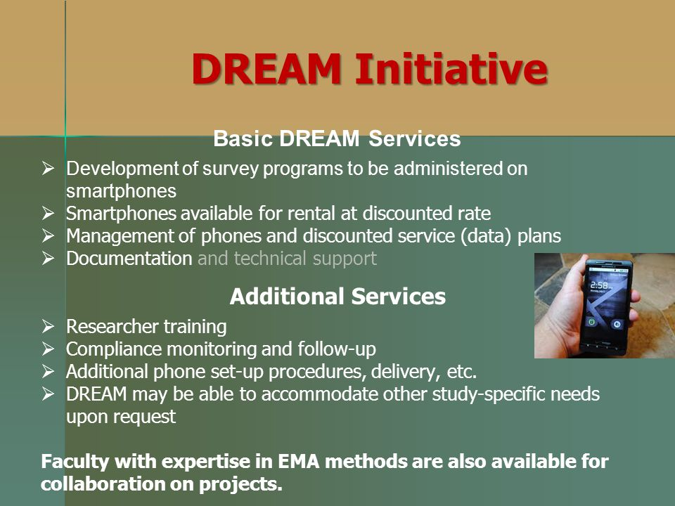 DREAM Initiative Basic DREAM Services Additional Services