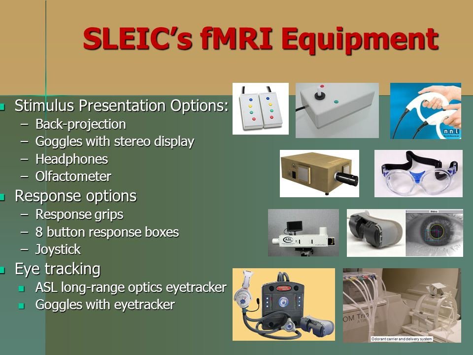 SLEIC's fMRI Equipment