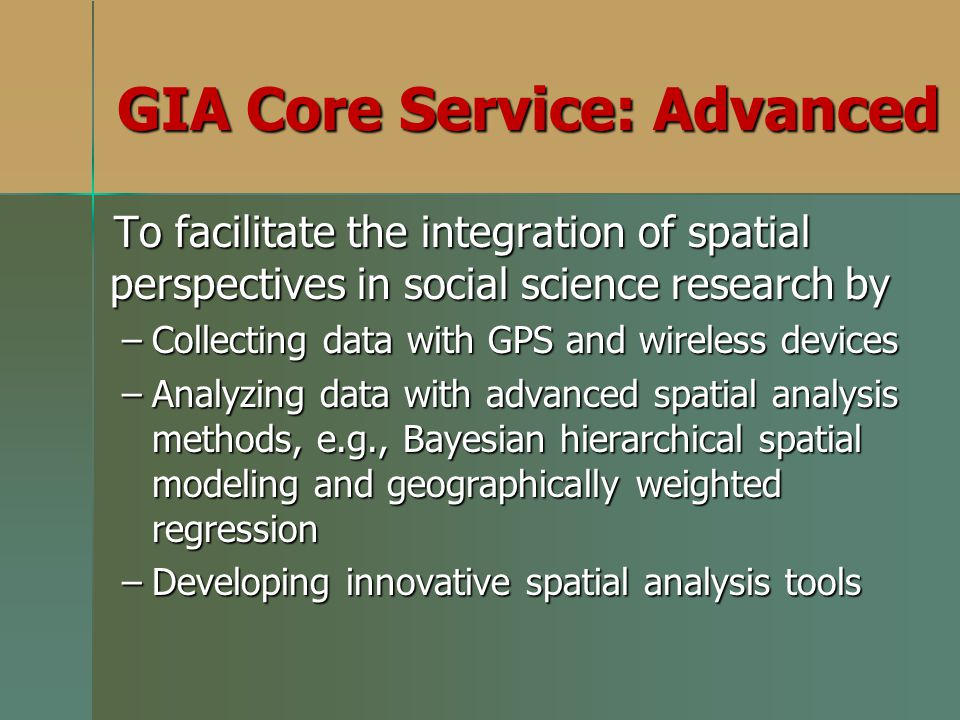 GIA Core Service: Advanced