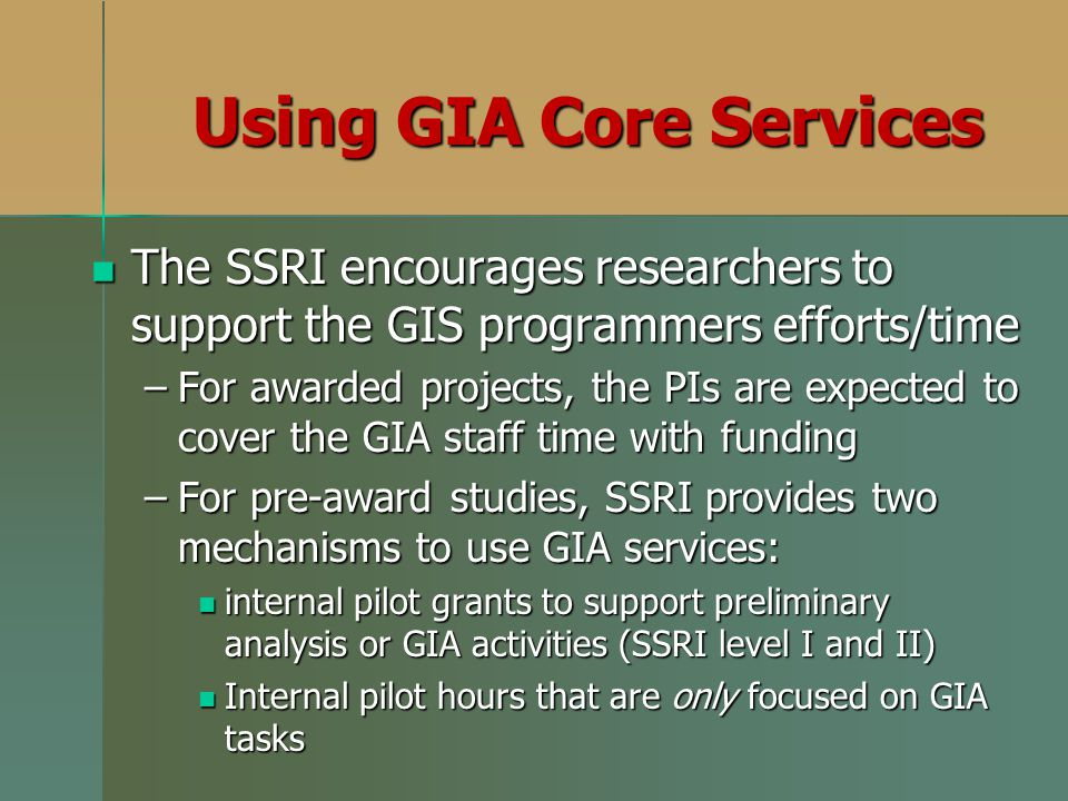 Using GIA Core Services