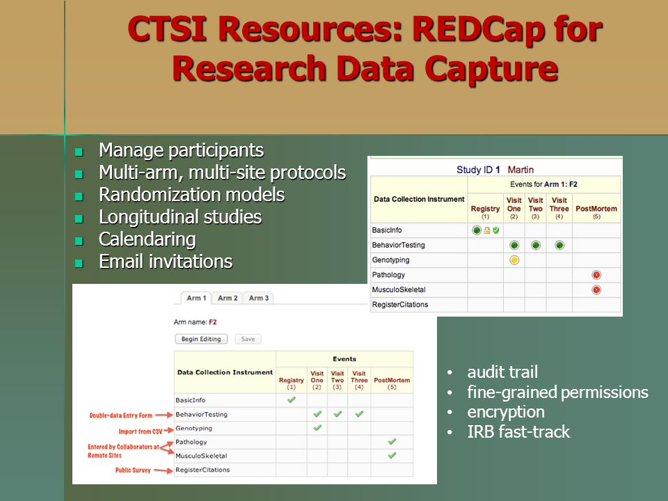 CTSI Resources: REDCap for Research Data Capture