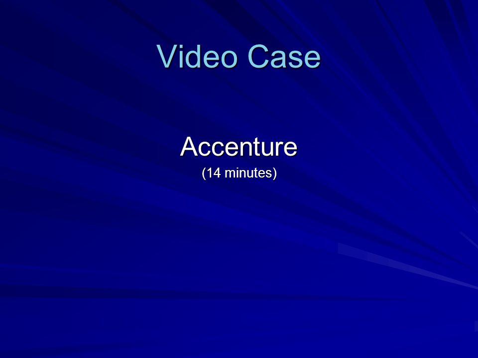 Video Case Accenture (14 minutes)