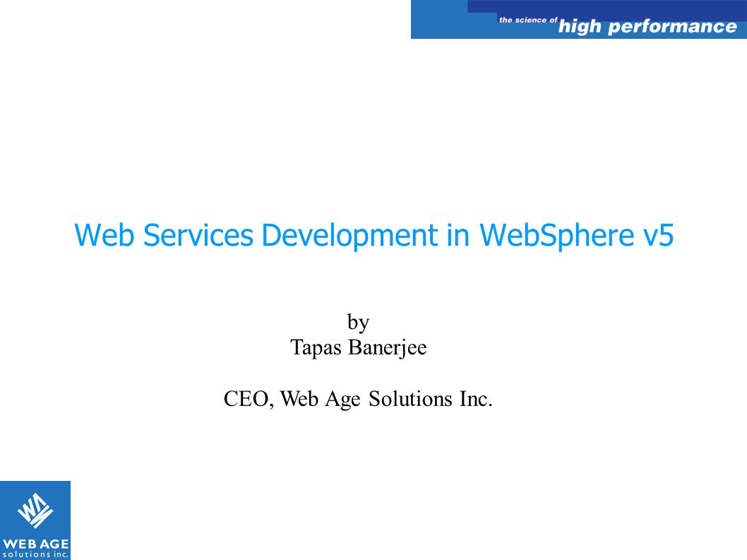 Web Services Development in WebSphere v5