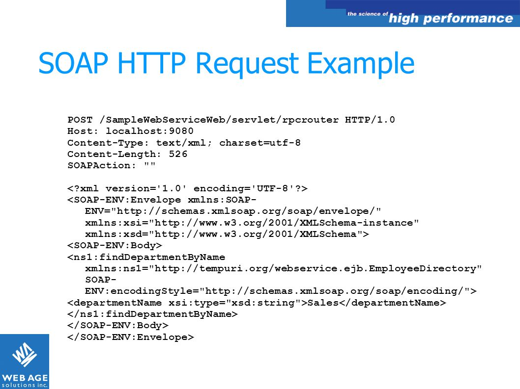 SOAP HTTP Request Example