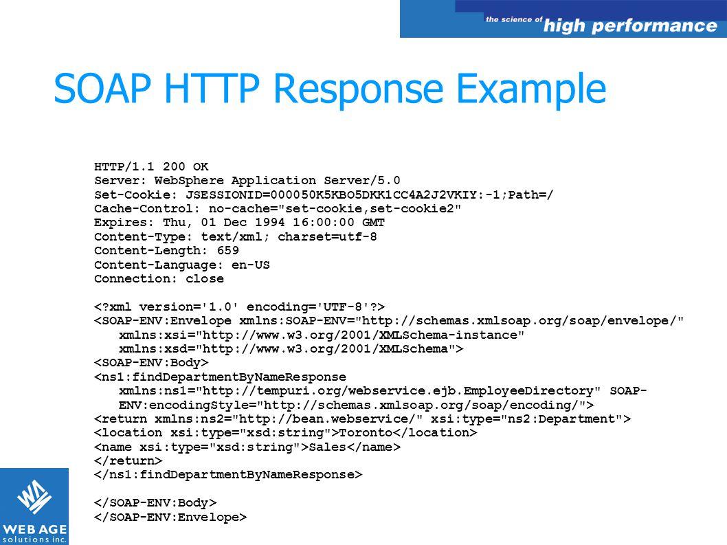 SOAP HTTP Response Example