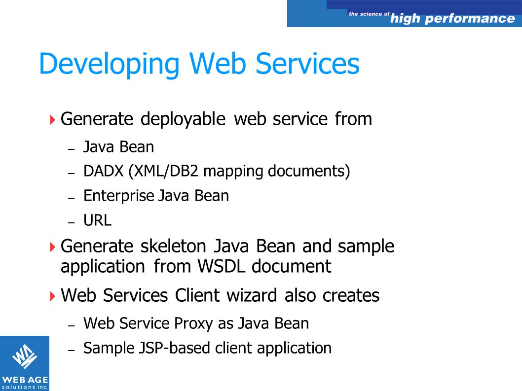 Developing Web Services