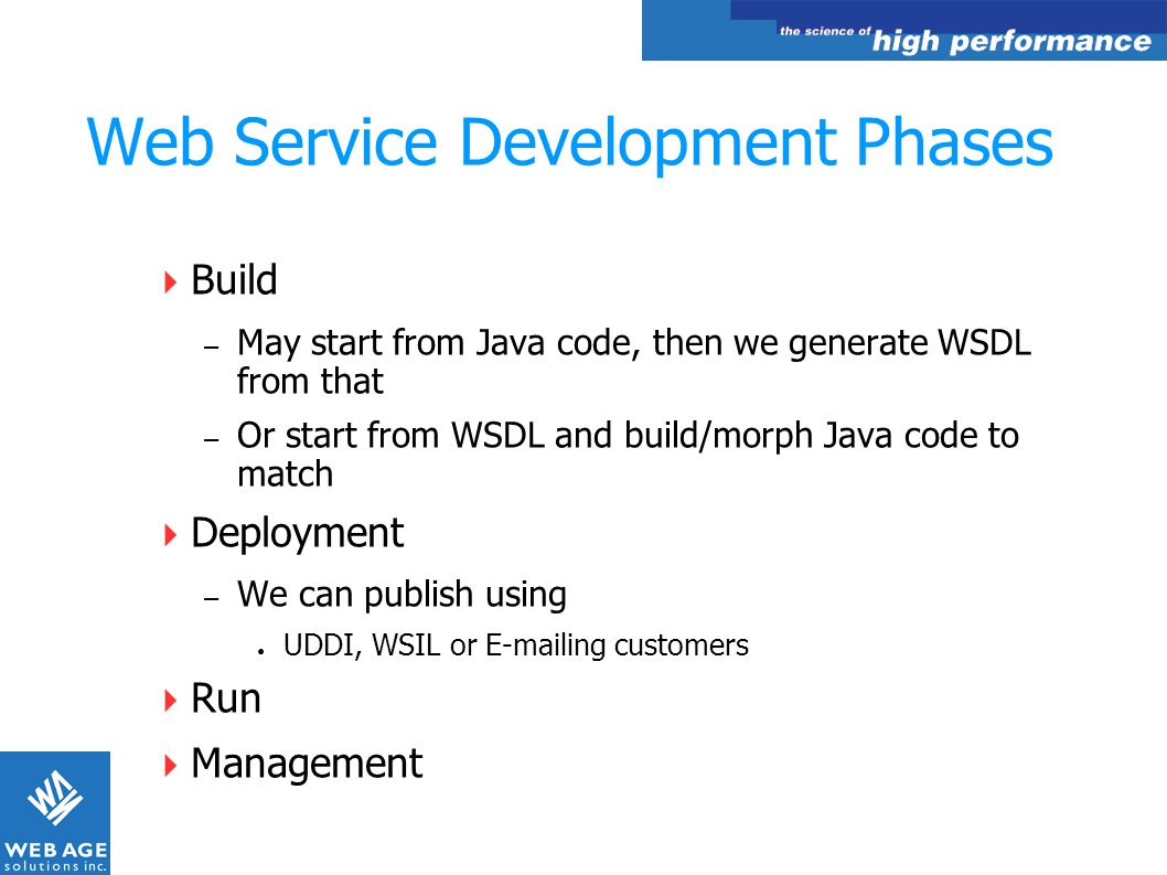 Web Service Development Phases