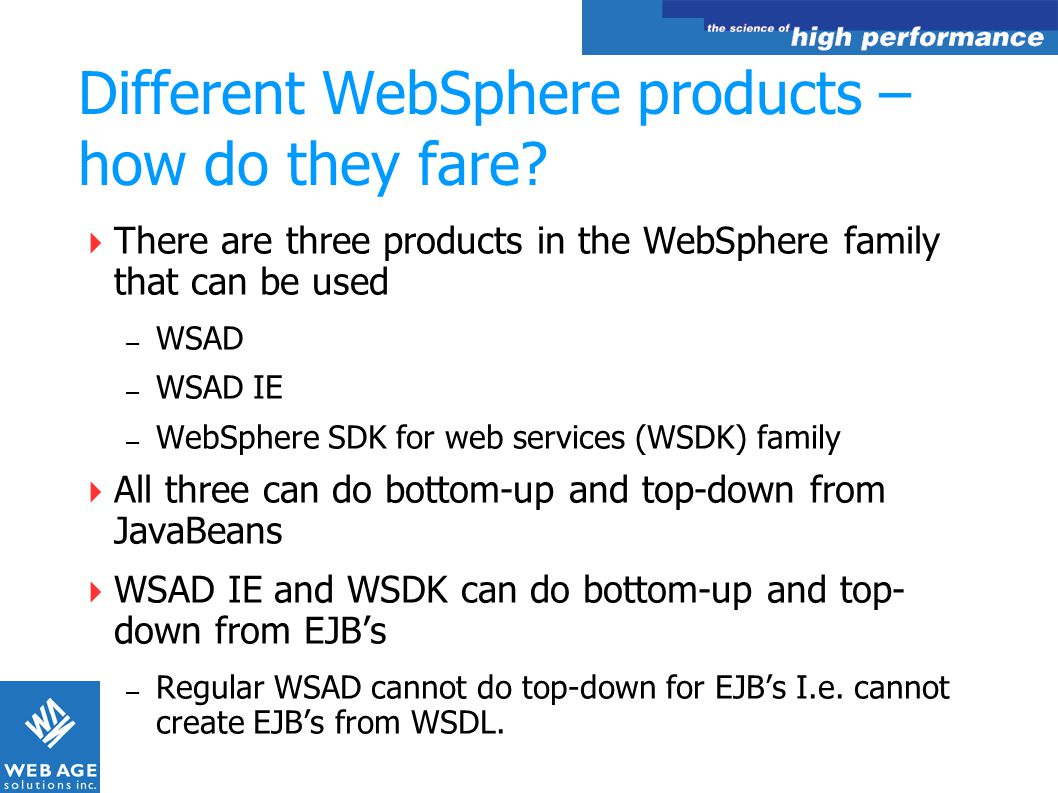 Different WebSphere products – how do they fare