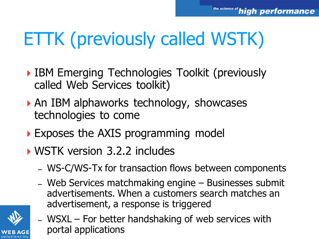 ETTK (previously called WSTK)