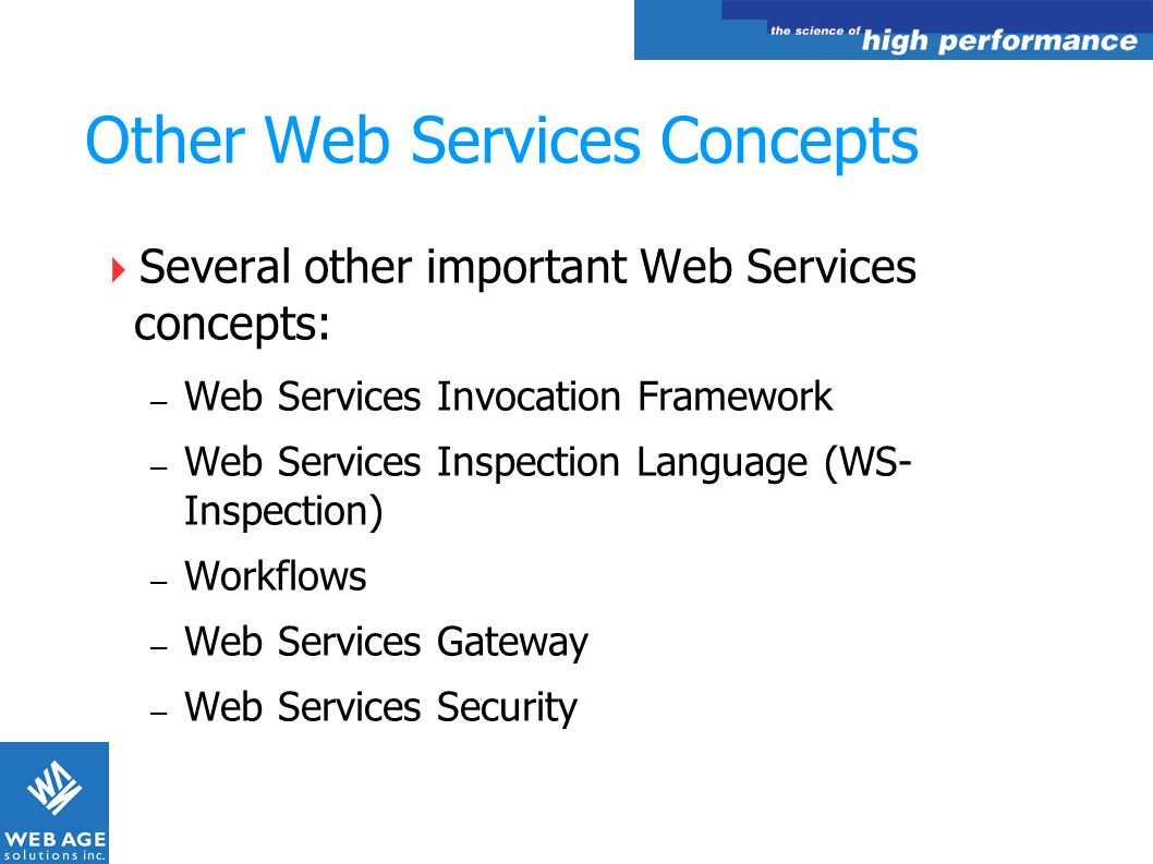 Other Web Services Concepts