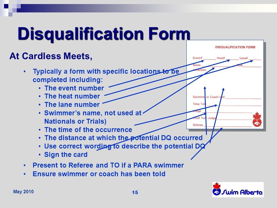 Disqualification Form