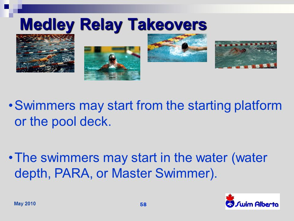 Medley Relay Takeovers