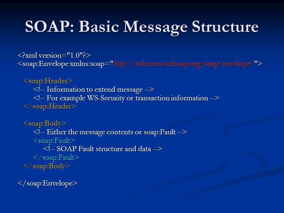 SOAP: Basic Message Structure