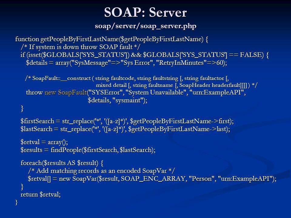 SOAP: Server soap/server/soap_server.php
