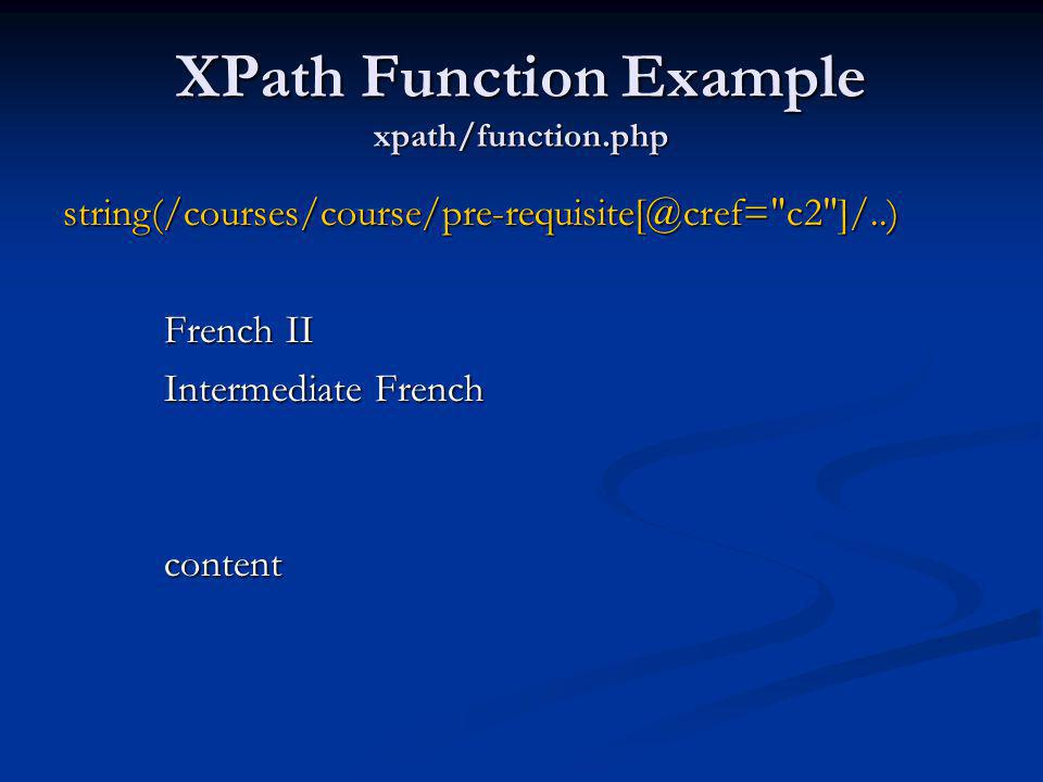 XPath Function Example xpath/function.php