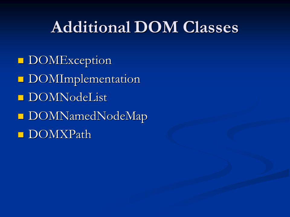 Additional DOM Classes