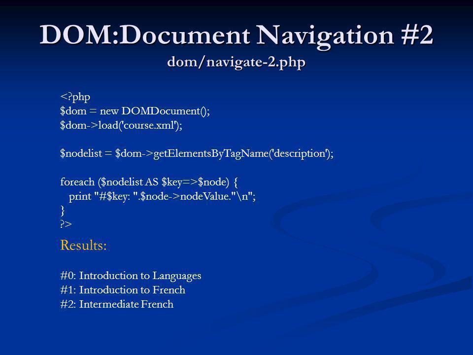 DOM:Document Navigation #2 dom/navigate-2.php