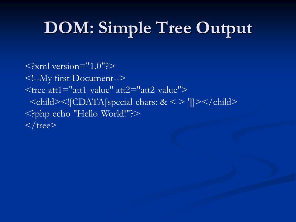 DOM: Simple Tree Output