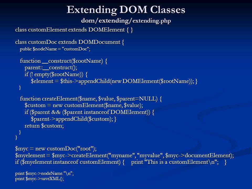 Extending DOM Classes dom/extending/extending.php