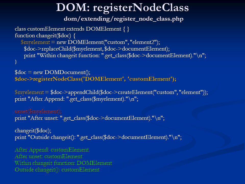DOM: registerNodeClass dom/extending/register_node_class.php
