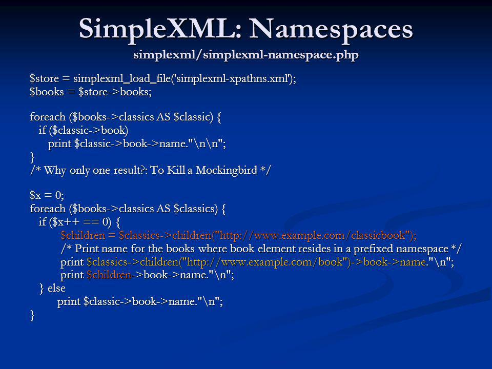 SimpleXML: Namespaces simplexml/simplexml-namespace.php