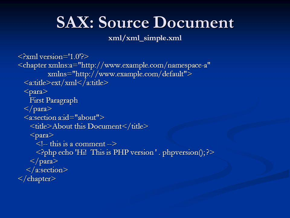 SAX: Source Document xml/xml_simple.xml